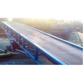 Producción profesional de transportador de correa de acero móvil