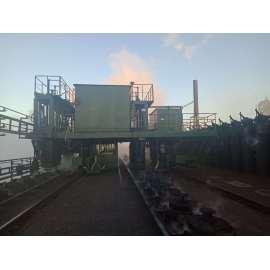 Camión guía de humo superior del horno para control de humo y horno de coque de apisonamiento
