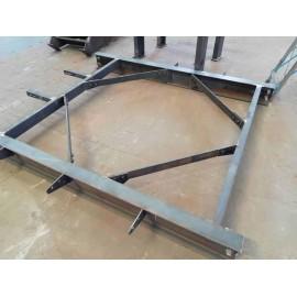 Estructura de acero Piezas de rack de equipos disponibles en múltiples industrias