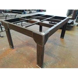 Mesa de trabajo de estructura de acero multifuncional de alta calidad, adecuada para taller, equipo y almacén