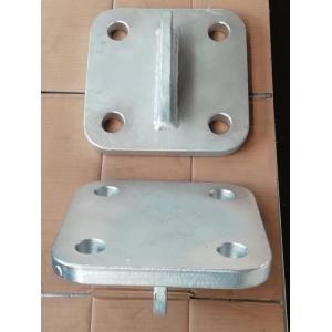 Placa de anclaje de equipo de muelle, viga fija, placa final de columna
