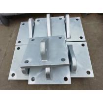 Dock equipment anchor plate, fixed beam, column end plate
