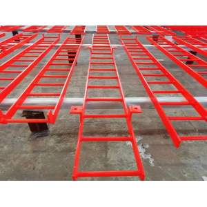 Safe and reliable welded steel structure removable safety climbing ladder