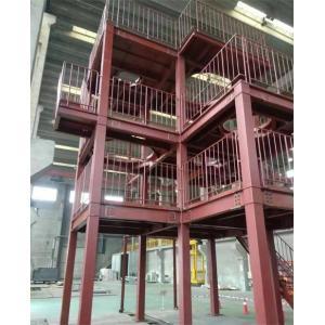 为日本客户定制的多行业可用的钢结构工程设备架台