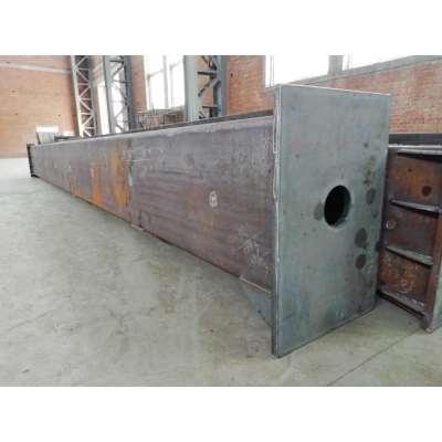 Herstellung von großflächigen Stützen für kollisionssichere Stahlkonstruktionen