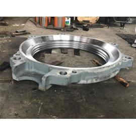 Machined mining machinery parts Cast iron equipment frame