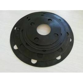 Rubber flange gasket with hole for valve pipe sealing