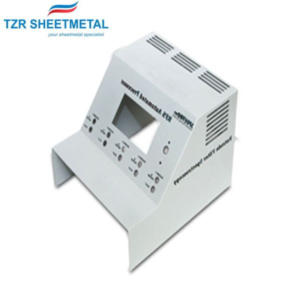 Powder coated metal shell manufacturing parts of high precision sheet metal processing