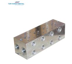 OEM Custom Percision CNC Bearbeitung Aluminium / Messing / SUS304 Hydraulik-Manifold-Hersteller
