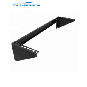 Hardware Negro Rack de montaje en pared vertical de 3