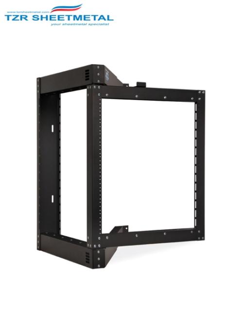 Hardware Schwarzes 3-HE-19-Zoll-Montagerahmengestell für Wandmontage