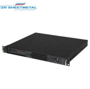 1U 19 Zoll Aluminium schwarz belüftetes Gehäuse mit Aluminiumfrontplatte