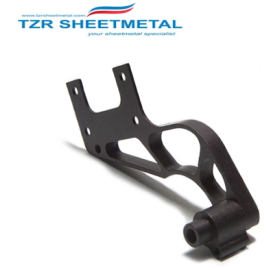 Black anodized custom cnc milling parts custom cnc machining cnc milling service manufacturer