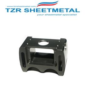 Schwarz eloxiert benutzerdefinierte CNC-Frästeile benutzerdefinierte CNC-Bearbeitung CNC-Fräs-Service-Hersteller