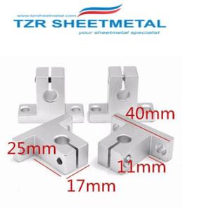 CNC部品光軸ガイドベアリングハウジングアルミレールシャフトサポートネジセット