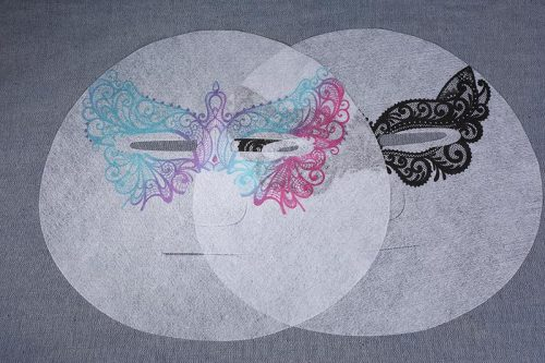Wholesale 28gsm Custom Patterned Color Printed Lyocell Fiber Spunlace Nonwoven Facial Mask Sheet Fabric