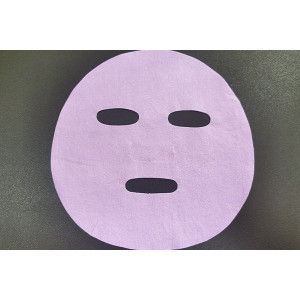 40gsm purple ultrafine nylon fiber spunlace nonwoven fabric colourful facial mask sheet