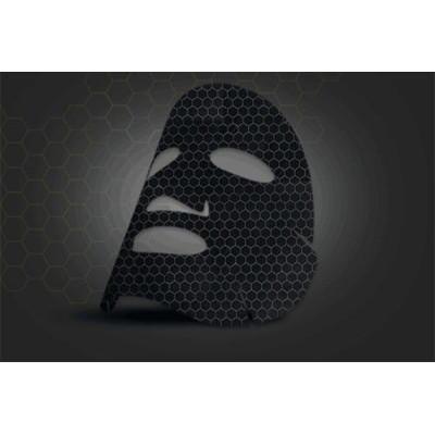 45gsm 100% graphene fiber facial mask sheet spunlaced non woven fabric sheet black full cross
