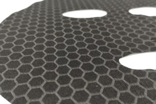 45gsm 100% graphene fiber facial mask sheet spunlaced non woven fabric sheet black full cross