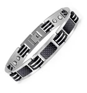 Streamline fashion black titanium bio power magnetic bracelet