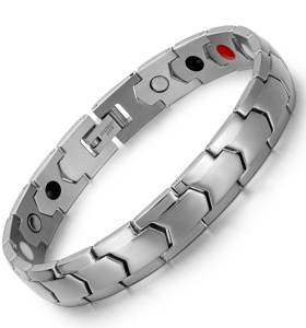 Steel Scintillate design stainless steel  magnetic bangle bracelets