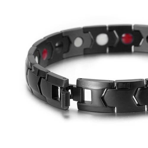 Black Scintillate stainless steel magnetic bracelet