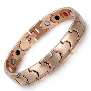 Rose gold scintillate stainless steel magnetic bracelet