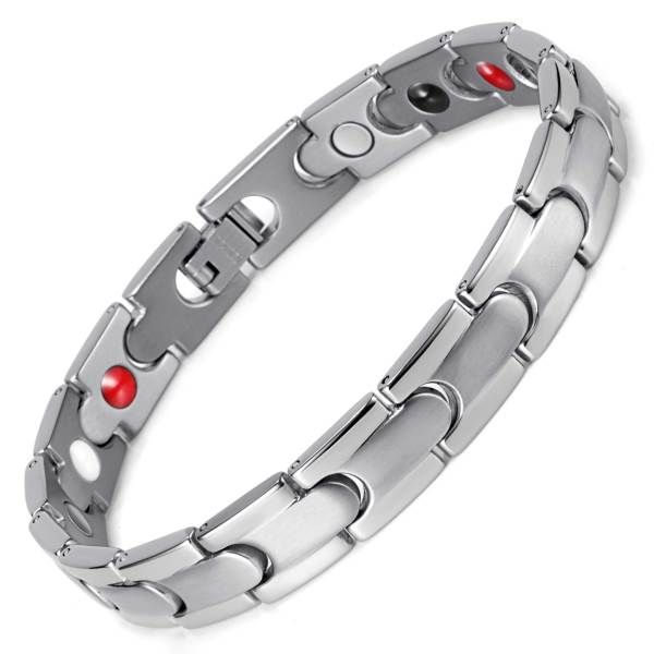 Apricity stainless steel silver color magnetic bracelet