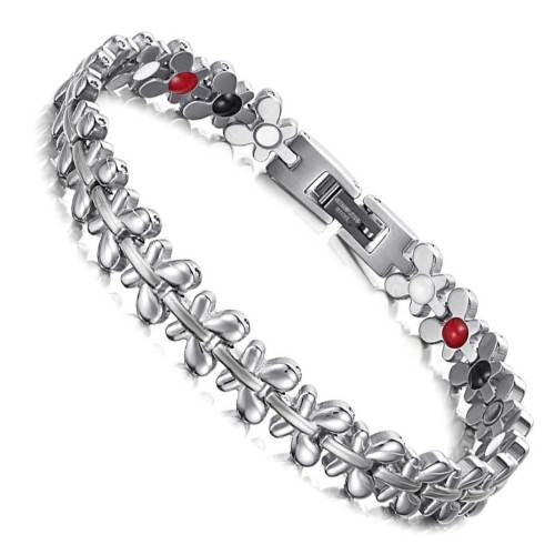 Redolent stainless steel silver color magnetic bracelet