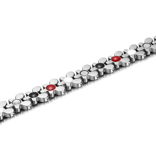 Redolent stainless steel silver color magnetic bracelet