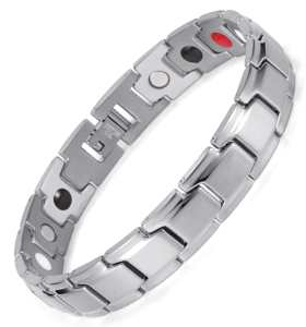 Serendipity stainless steel silver color magnetic bracelet