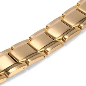 Serendipity stainless steel gold color magnetic bracelet