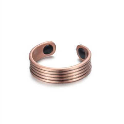 Opulent pure solid copper magnetic ring