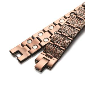 Panacea solid copper magnetic bracelet