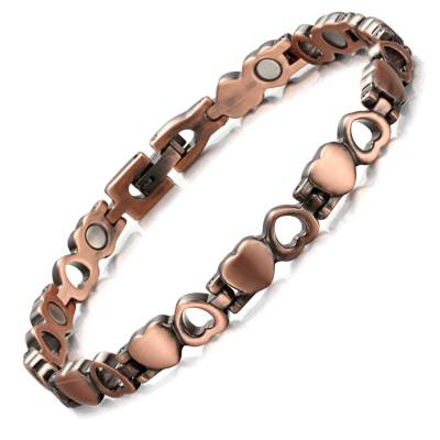 Tryst Heart shape pure copper magnetic bracelet