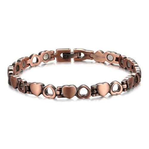 Tryst Heart shape pure copper magnetic bracelet