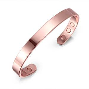 Ataraxia rose gold plated pure copper magnets bangle