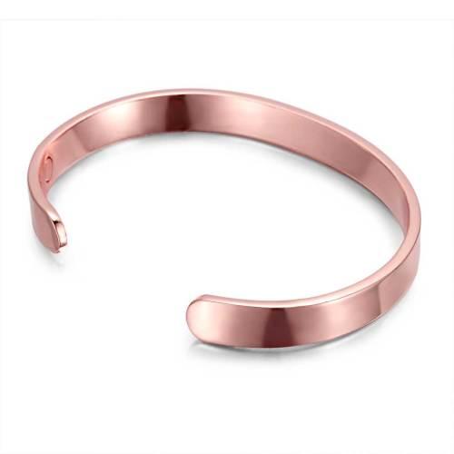 Ataraxia rose gold plated pure copper magnets bangle
