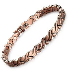 Nebulous pure solid copper magnetic bracelet