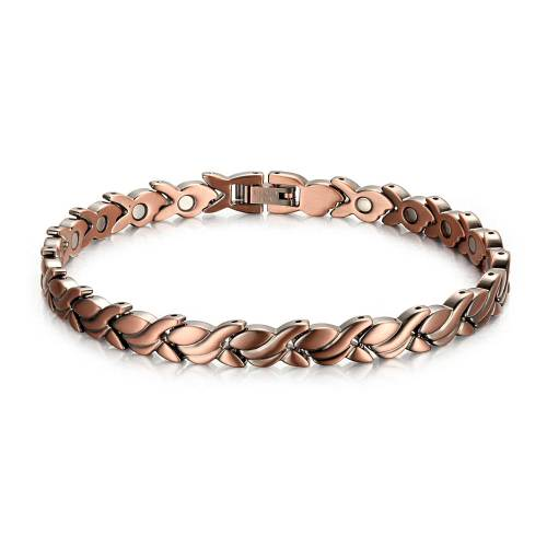 Nebulous pure solid copper magnetic bracelet