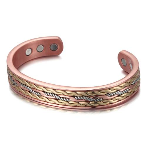 Criosphinx Solid copper multi-color magnetic bangle bracelet
