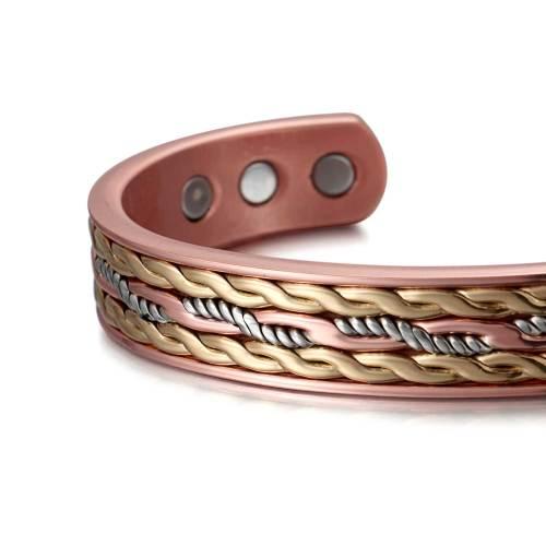 Criosphinx Solid copper multi-color magnetic bangle bracelet