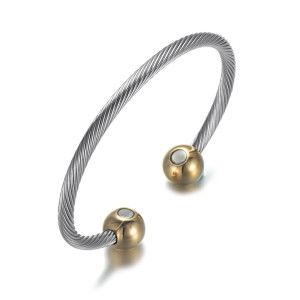 Gold Moppet stainless steel magnetic bangle bracelet