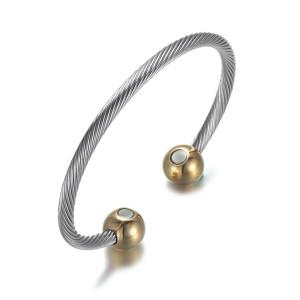 Gold Moppet stainless steel magnetic bangle bracelet