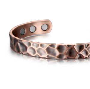 Petrichor Solid copper  magnetic bangle bracelet