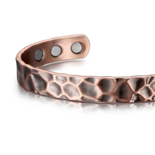 Petrichor Solid copper  magnetic bangle bracelet