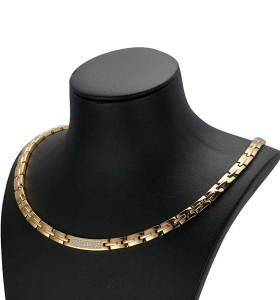 Meraki zircon stone stainless steel magnetic necklace