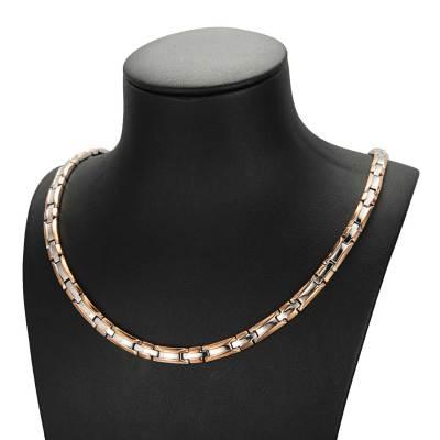 Bucolic healthcare titanium magnetic necklace
