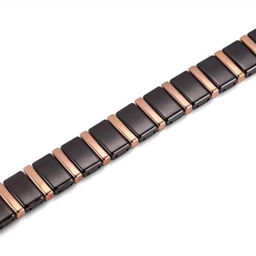 Chatoyant black ceramic  and rose gold magnetic bracelet