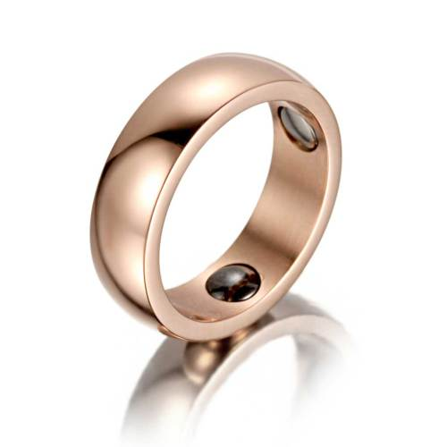 Shenanigans stainless steel rose gold magnetic healthcare ring